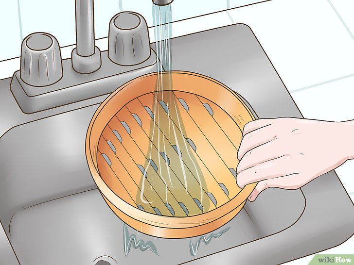 Imagen titulada Clean a Bamboo Steamer Step 1